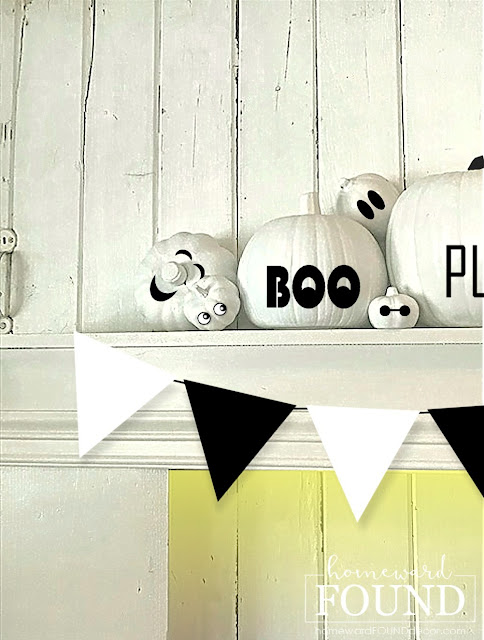 fall,pumpkins,neutrals,farmhouse style,just for fun,Halloween,DIY,diy decorating,crafting,crafting with kids,dollar store crafts,seasonal,fall home decor,pumpkin decorating,decorating pumpkins,easy no-carve pumpkin decorating,pumpkin decorating for kids, stickers, dollar store stickers.