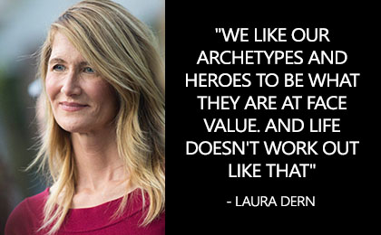 Most Famous Inspirational Quotes by Actress Laura Dern with aesthetic images to share these laura dern quotes and sayings with your family & friends.