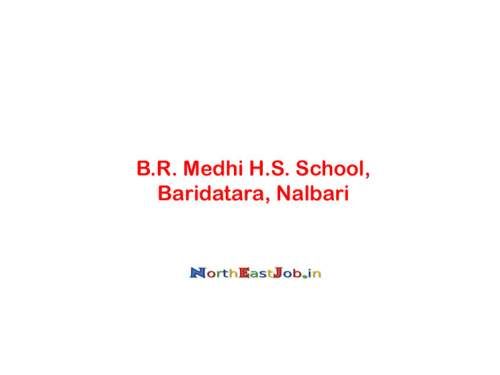 B.R. Medhi HS School, Nalbari Recruitment 2019