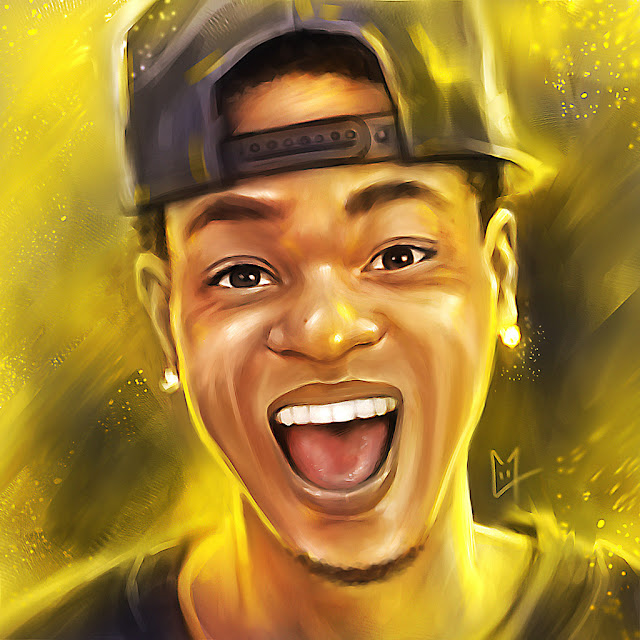King Bach Digital Painting Portrait Dance