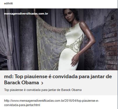 Top piauiense é convidada para jantar de Barack Obama