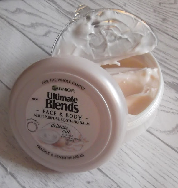 Garnier Ultimate Blends soothing face body balm delicate oat beauty blog review