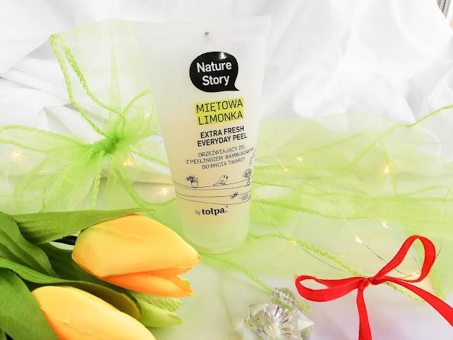 Tołpa | Nature Story | Extra Fresh Everyday Peel `Miętowa limonka` - Orzeźwiający żel z peelingiem bambusowym do mycia twarzy
