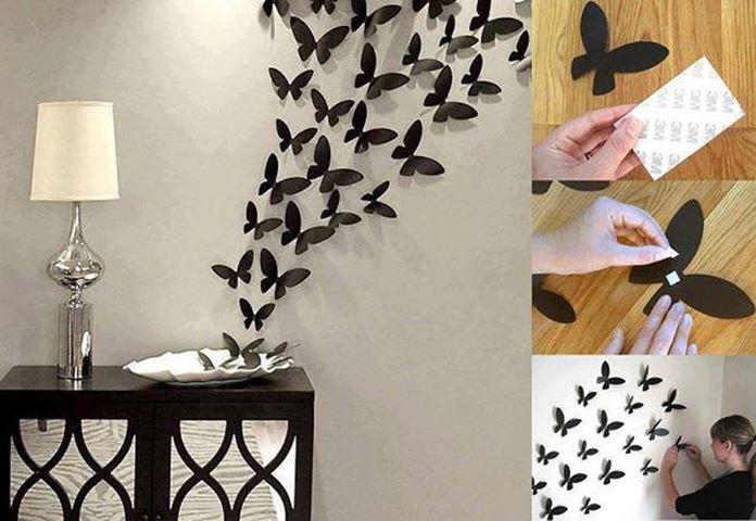 Farfalle di carta per decorare pareti e oggetti creare con la carta - Farfalle decorative per pareti ...