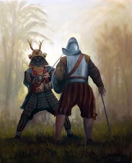 Soldado español vs Samurái