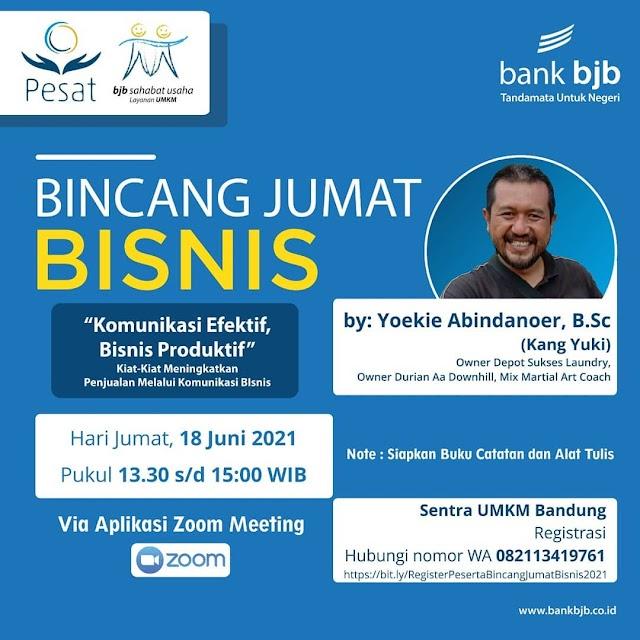 """Bank bjb Ajak Pengusaha Ikut  Webinar """"Komunikasi Efektif, Bisnis Produktif"""""""