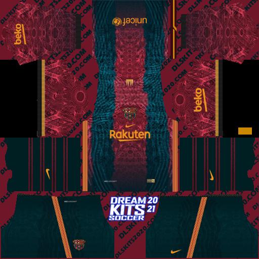 Fc Barcelona Kits 2021-2022 Nike for Dream League Soccer 2019 (Home)
