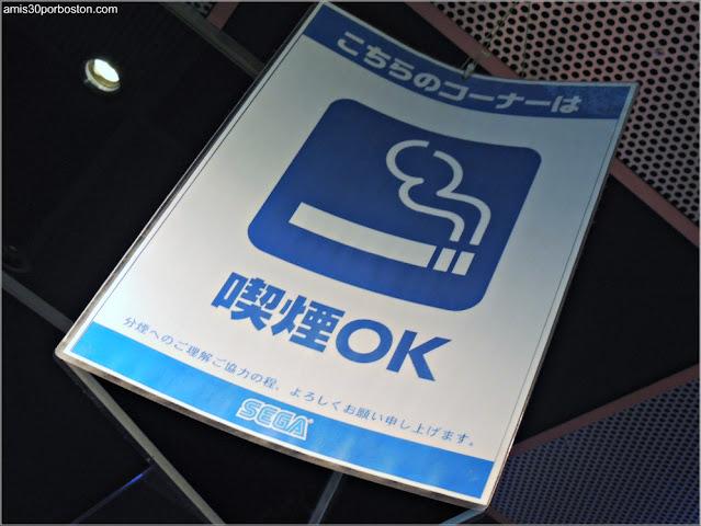 Permitido Fumar en los Arcades de Akihabara, Tokio