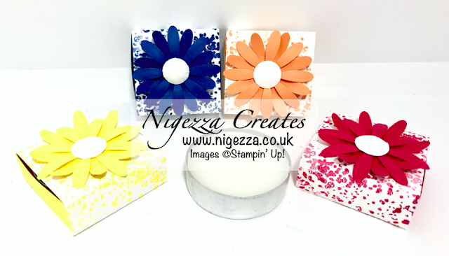 Nigezza Creates with Stampin Up Artisan Textures and The Medium Daisy Punch