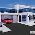 3D Minimalist House Architecture Design
