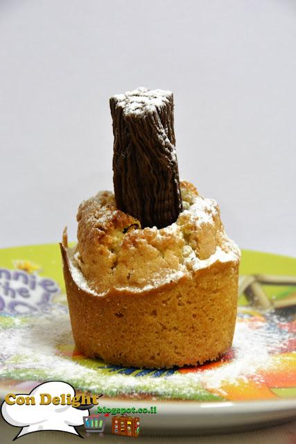 מאפינס במילוי מקופלת Chocolate filled muffins