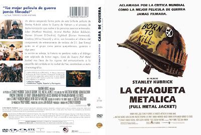 Carátula dvd: La chaqueta metálica / Full Metal Jacket / Descargar