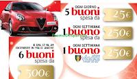 Logo Deluxe e Lidl : vinci buoni spesa da 25, 250 e 500€, buoni viaggio e Alfa Romeo Giulietta
