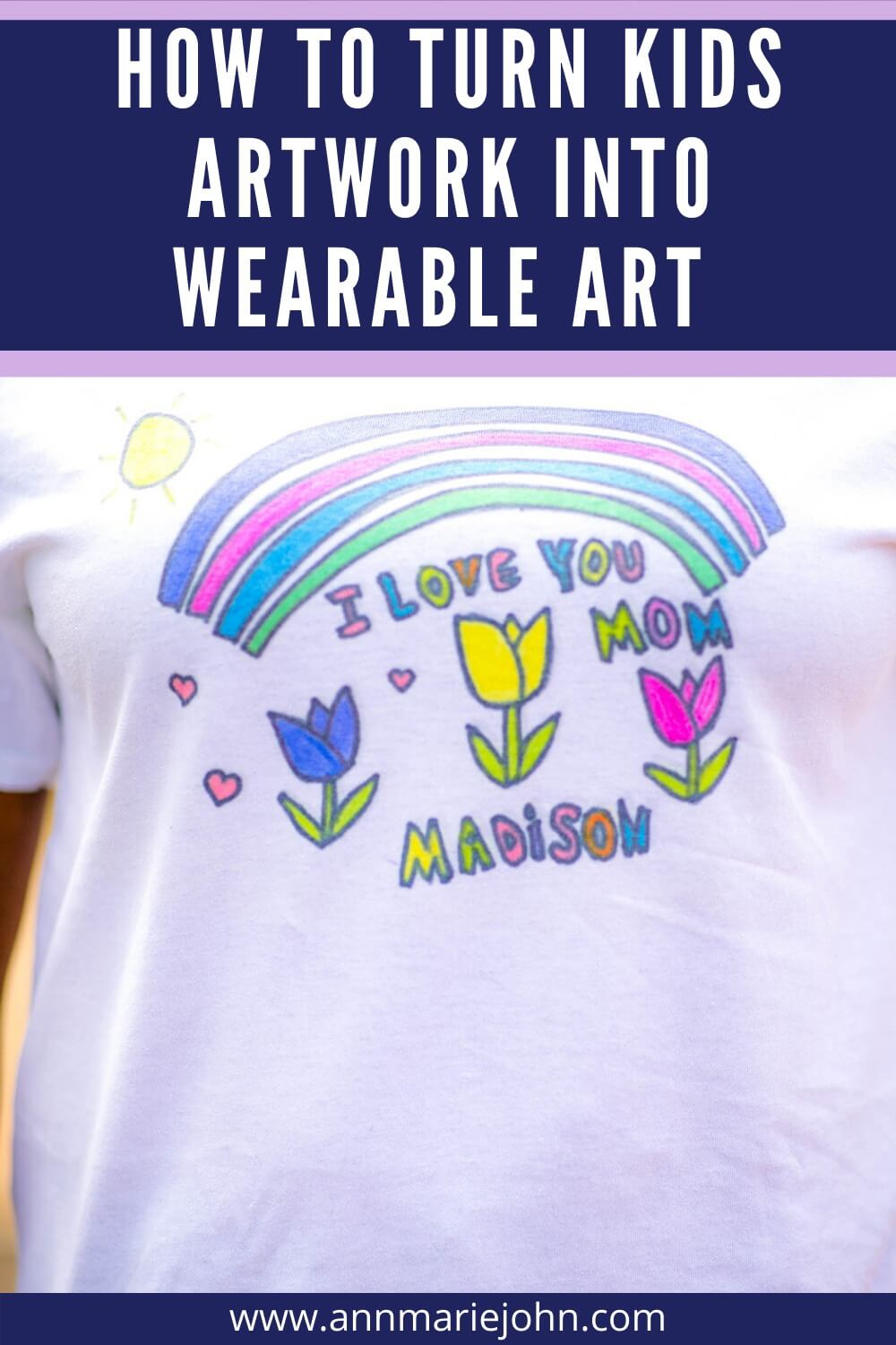 How to Turn Kids Artwork into Wearable Art