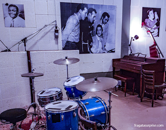 Interior do Sun Studio, em Memphis