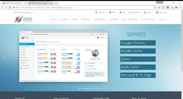 bsnl payment portal