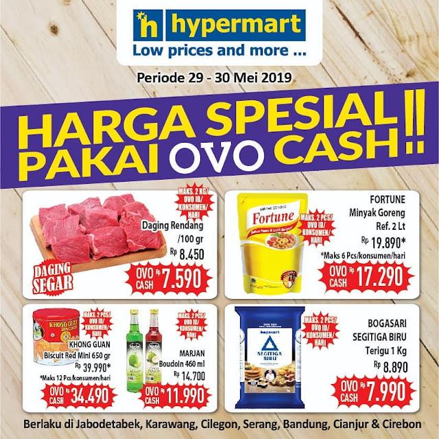 #Hypermart - #Promo Harga Spesial Pakai OVO Cash (s.d 30 Mei 2019)