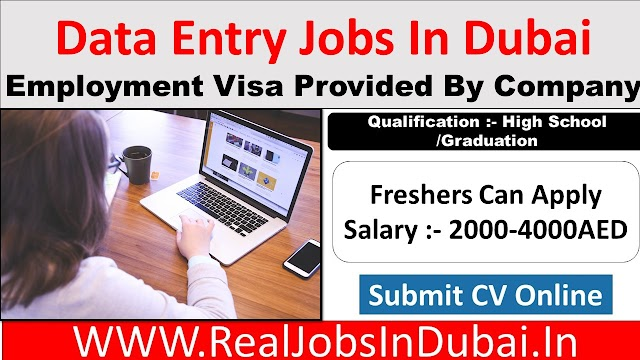 Data Entry Operator Jobs In Dubai - UAE
