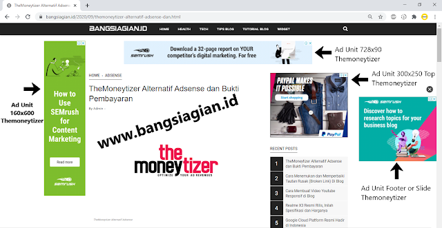 Ad Unit Themoneytizer