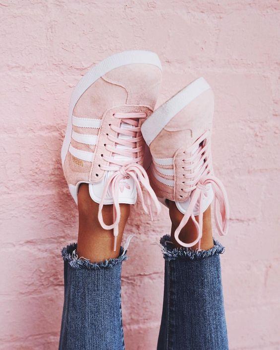 Millennial Pink ADIDAS Gazelles