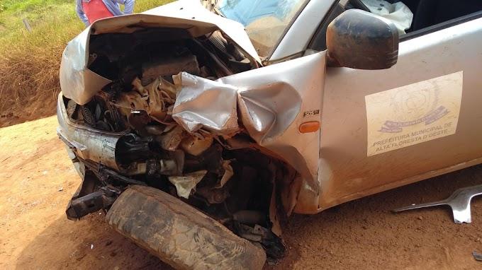 Alta Floresta: Atualizado Acidente envolvendo duas camionetas deixa duas pessoas feridas na zona rural do município