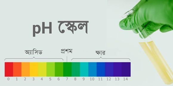 pH স্কেল কি । বিভিন্ন দ্রবণের pH এর মান । দাঁতের ক্ষয়ে এর প্রভাব । মৎস চাষের উপর pH এর প্রভাব