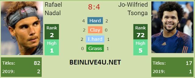 rafael nadal vs wilfried tsonga live