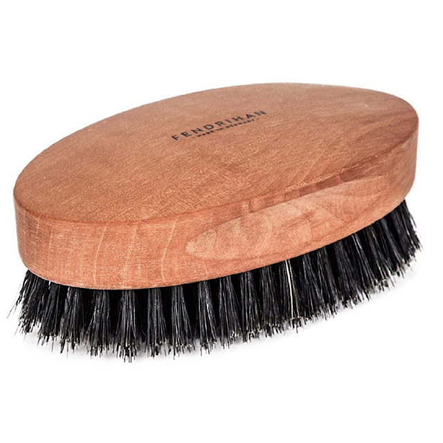 Fendrihan Genuine Boar Bristle and Pear Wood Military Hair Brush