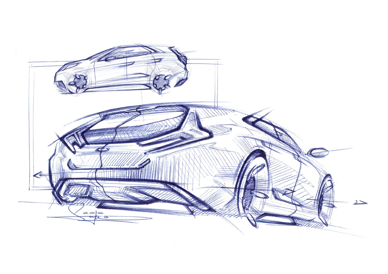 Simon Larsson - Sketchwall: Car Sketch step by step guide