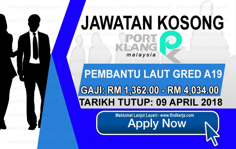 Jawatan Kerja Kosong PKA - Lembaga Pelabuhan Klang logo www.findkerja.com april 2018