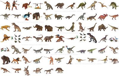 Todos os Dinossauros Papo e animais pré-históricos em miniatura