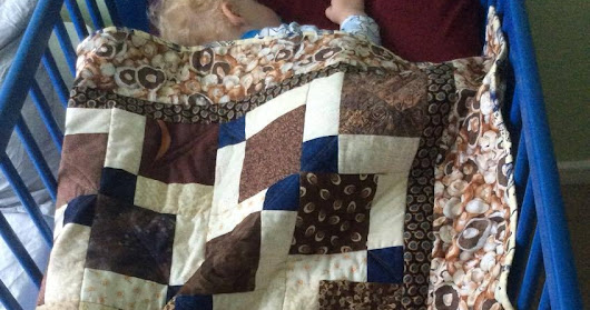 Noah with his new quilt