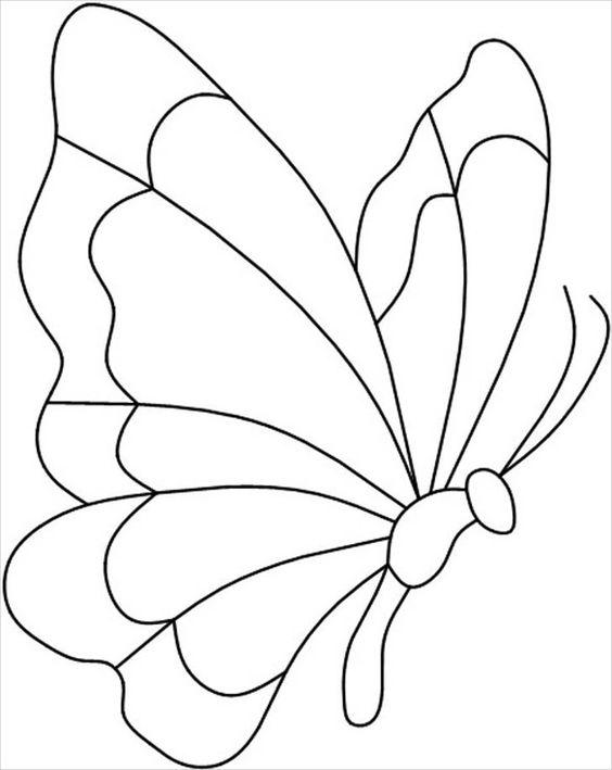 Tranh tô màu con bướm nghiêng