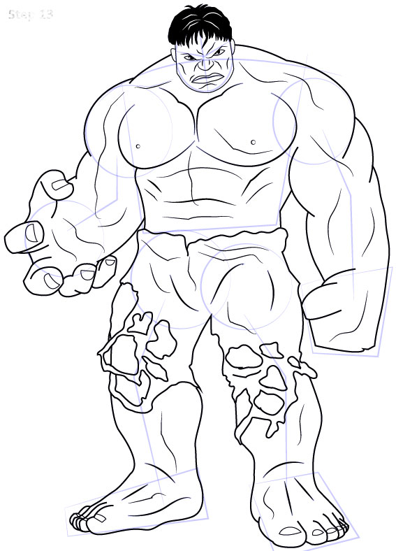 catatanku anak desa  Gambar Mewarnai Hulk