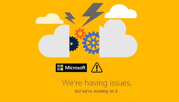 Microsoft Services Goes Down Including XBox And OneDrive