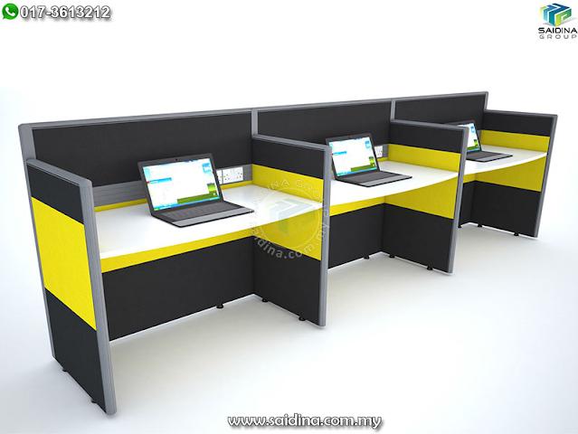 Workstation (3 seater) c/w Rectangular shape table 1200mm x 600mm   Model SGWS-iR301