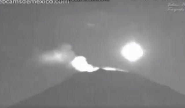 Avvistamento UFO vulcano Popocatepetl