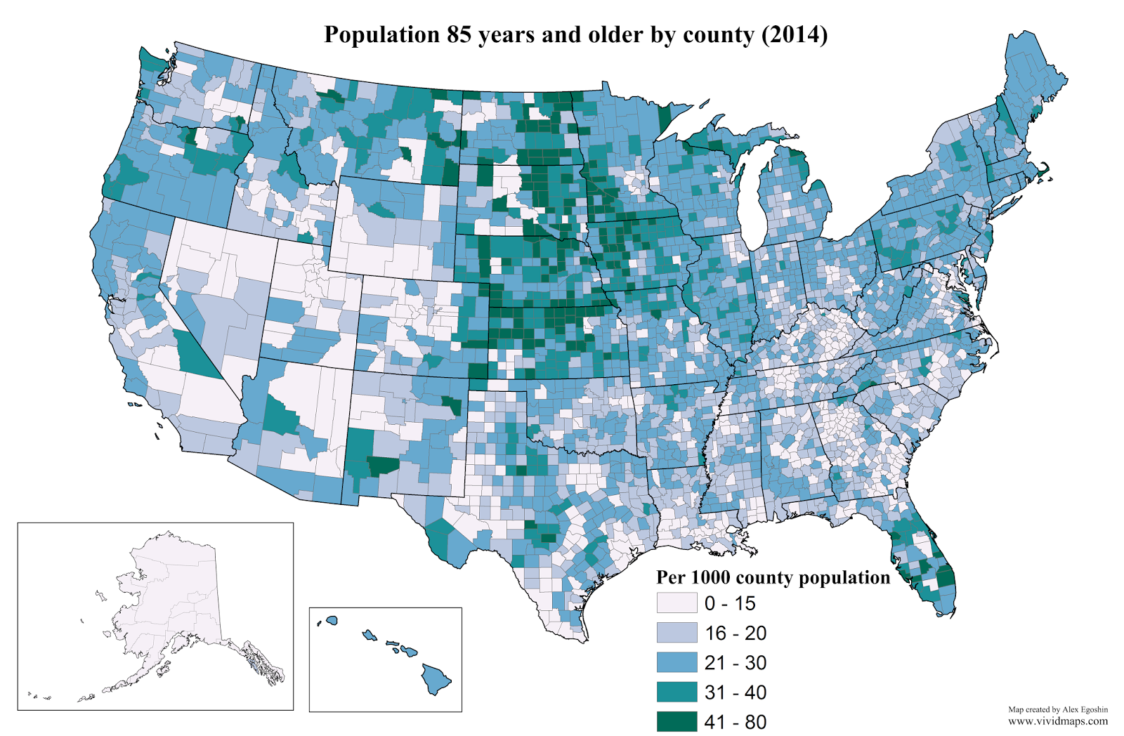 Population 85 Years And Older By County