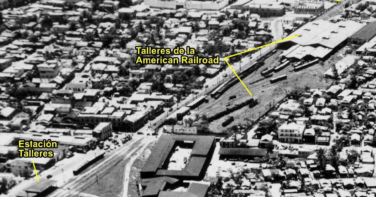 Vista aérea de los talleres de la American Railroad