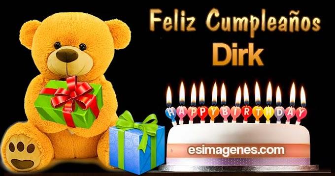 Feliz cumpleaños Dirk
