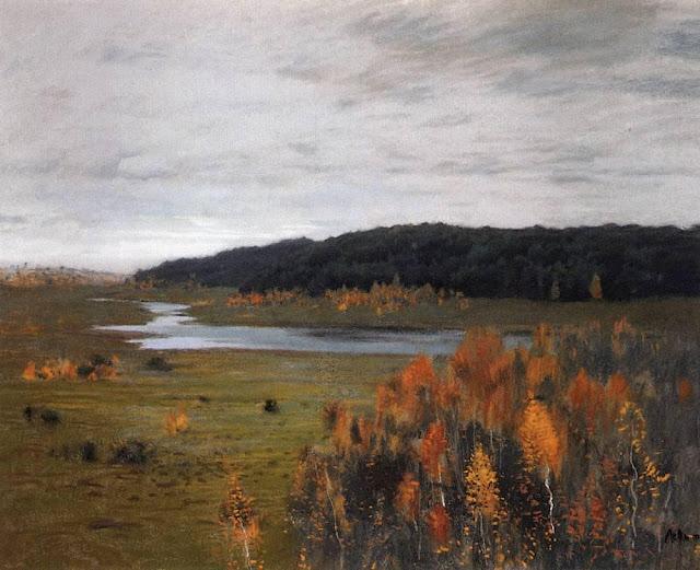 Исаак Ильич Левитан - Осень. Долина реки. 1896