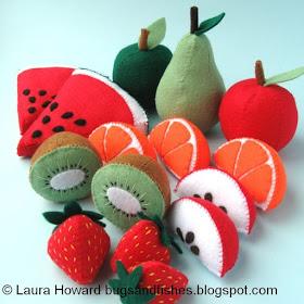 Felt faux fruit