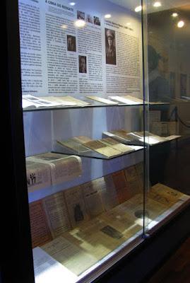 Documentos expostos no museu judaico em Belmonte