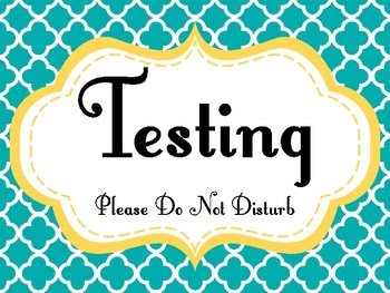 "Free Printable ""Testing"" Sign 