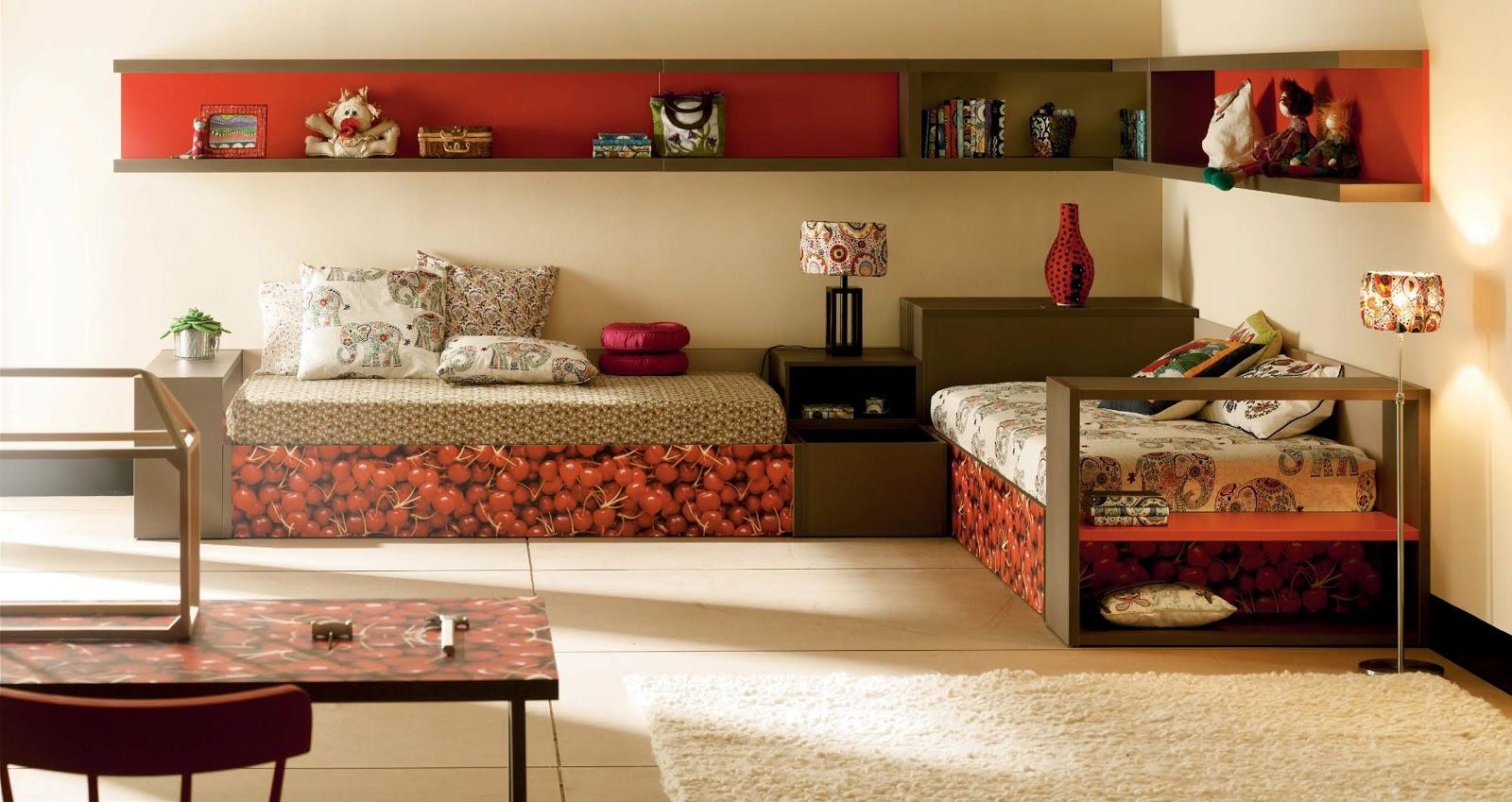 Dormitorios con camas nido Dormitorio juvenil en l
