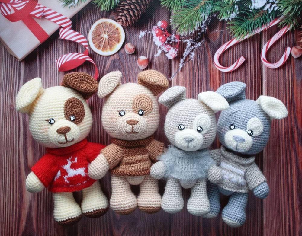 Crochet toys dogs amigurumi