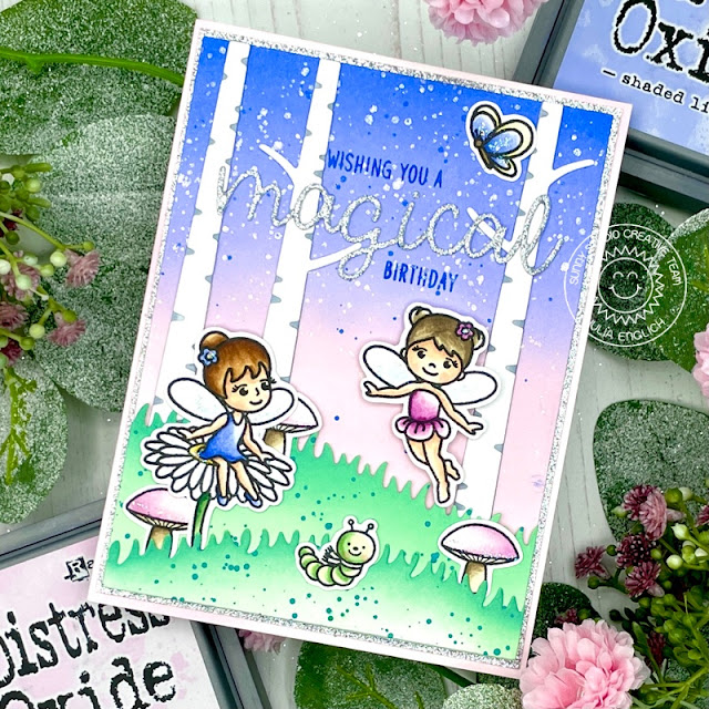 Sunny Studio Stamps: Garden Fairy Rustic Winter Dies Home Sweet Gnome Birthday Card by Julia Englich
