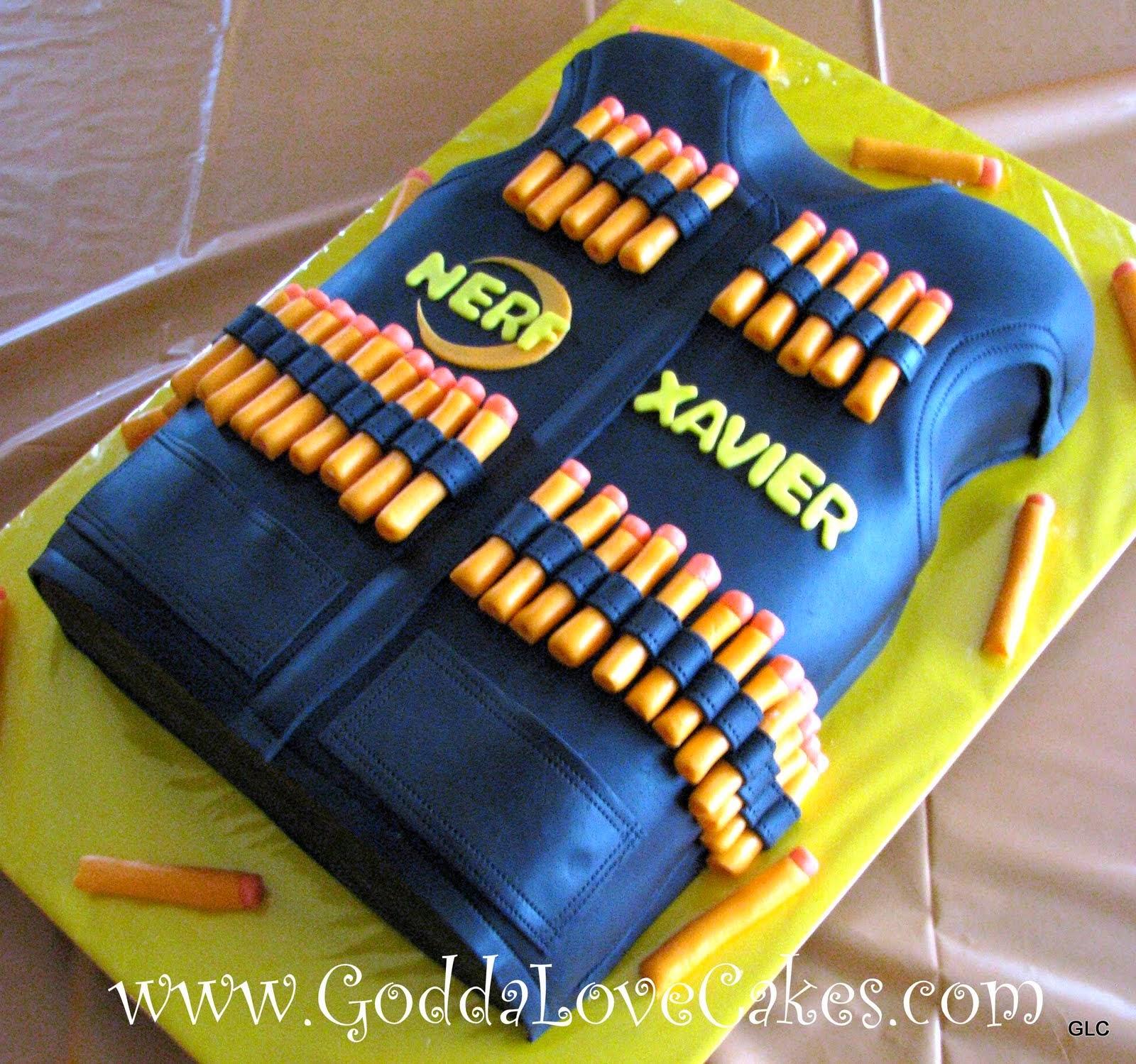 Nerf Birthday Cake Photos