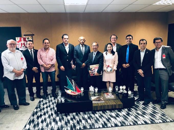 INDÚSTRIA - Paulo Marinho vai à FIEMA com embaixador da Tailândia e defende Porto Seco em Caxias