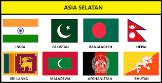 Bendera Negara Asia Selatan